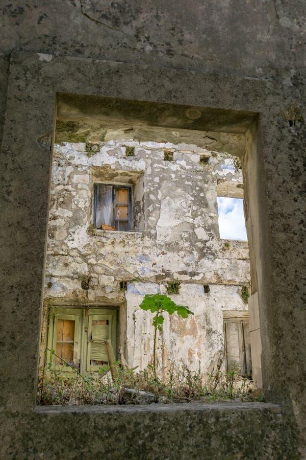 议院的恶化在老镇马里Ston 图库摄影