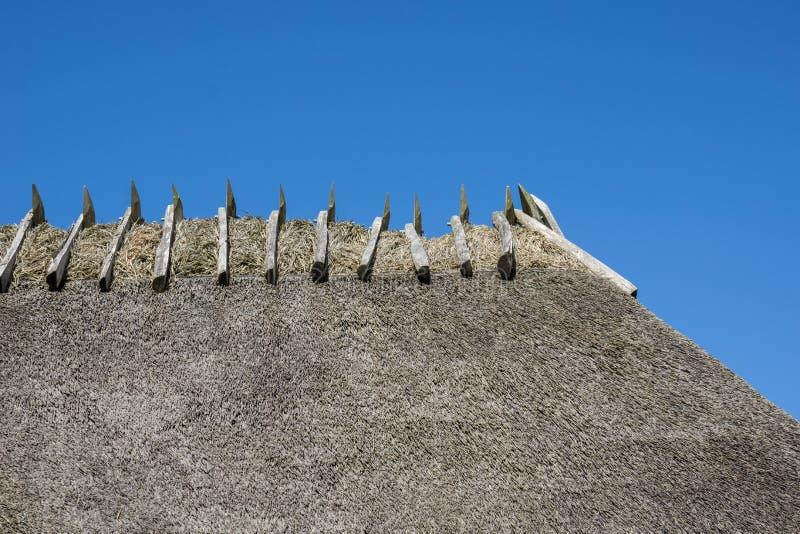 议院秸杆屋顶  免版税库存照片