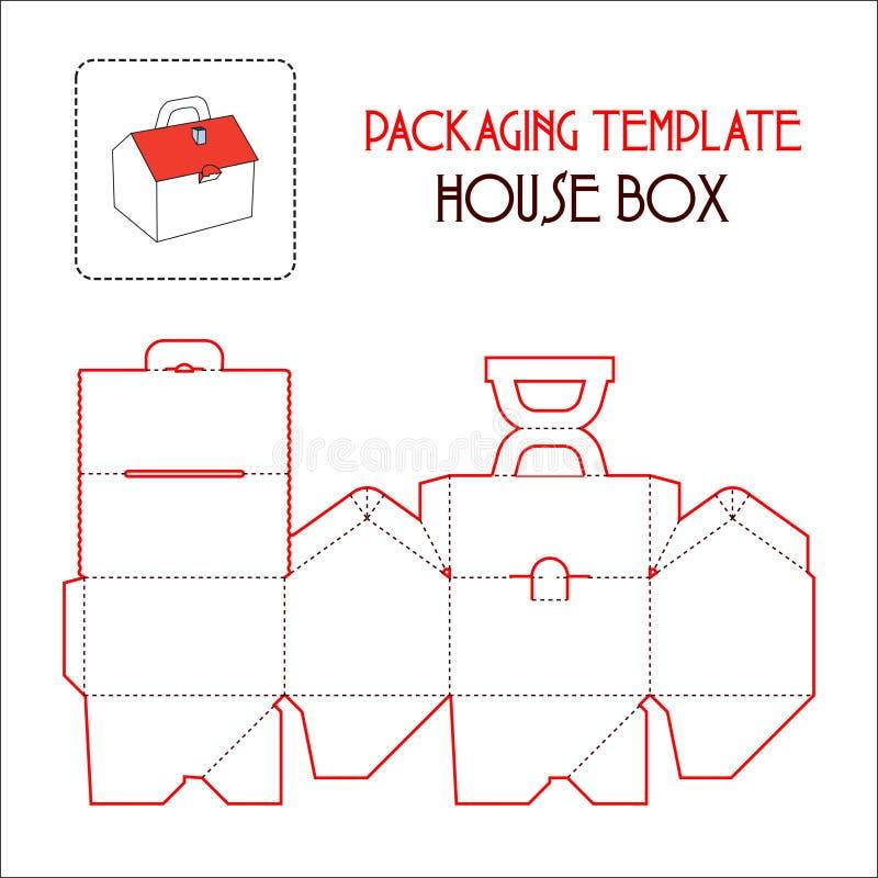 议院箱子包装的模板 皇族释放例证