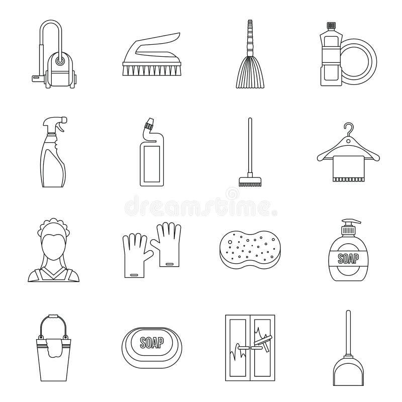 议院被设置的清洁象,概述样式 向量例证