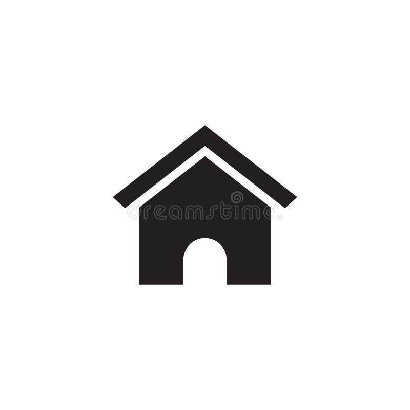 议院象不动产图形设计模板传染媒介 库存例证