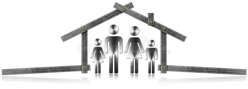 议院项目-有家庭的金属米 向量例证