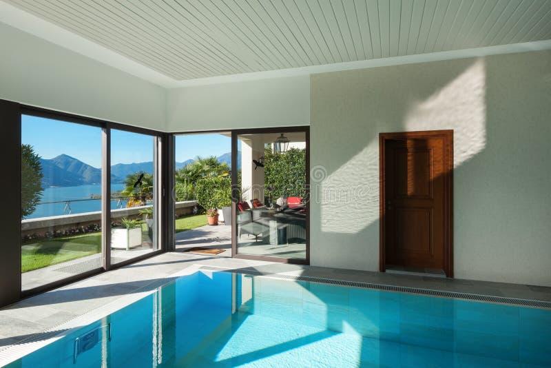 议院,室内游泳池 免版税库存图片