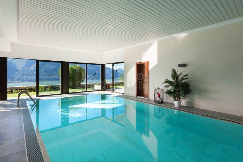 议院,室内游泳池 免版税库存照片