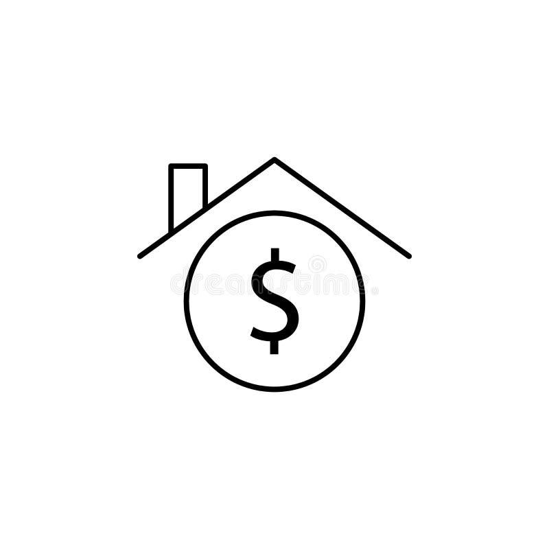议院,家,美元象 财务例证的元素 标志和标志象可以为网,商标,流动应用程序,UI,UX使用 皇族释放例证