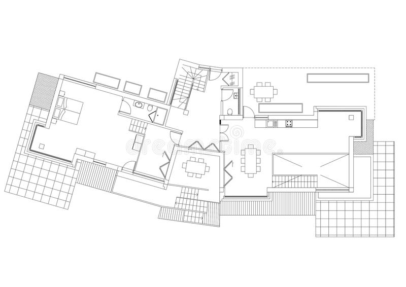 议院-被隔绝的建筑师图纸 皇族释放例证