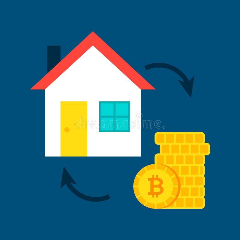议院Bitcoin概念 向量例证