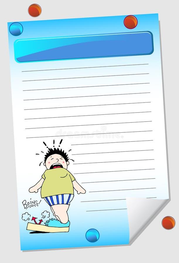 记事本重量 向量例证