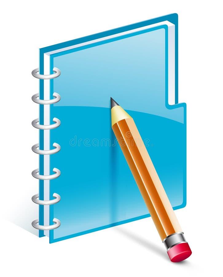 记事本铅笔 库存例证