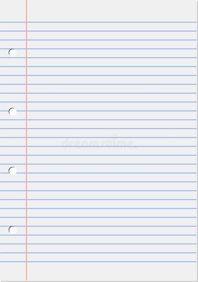 记事本页向量 向量例证