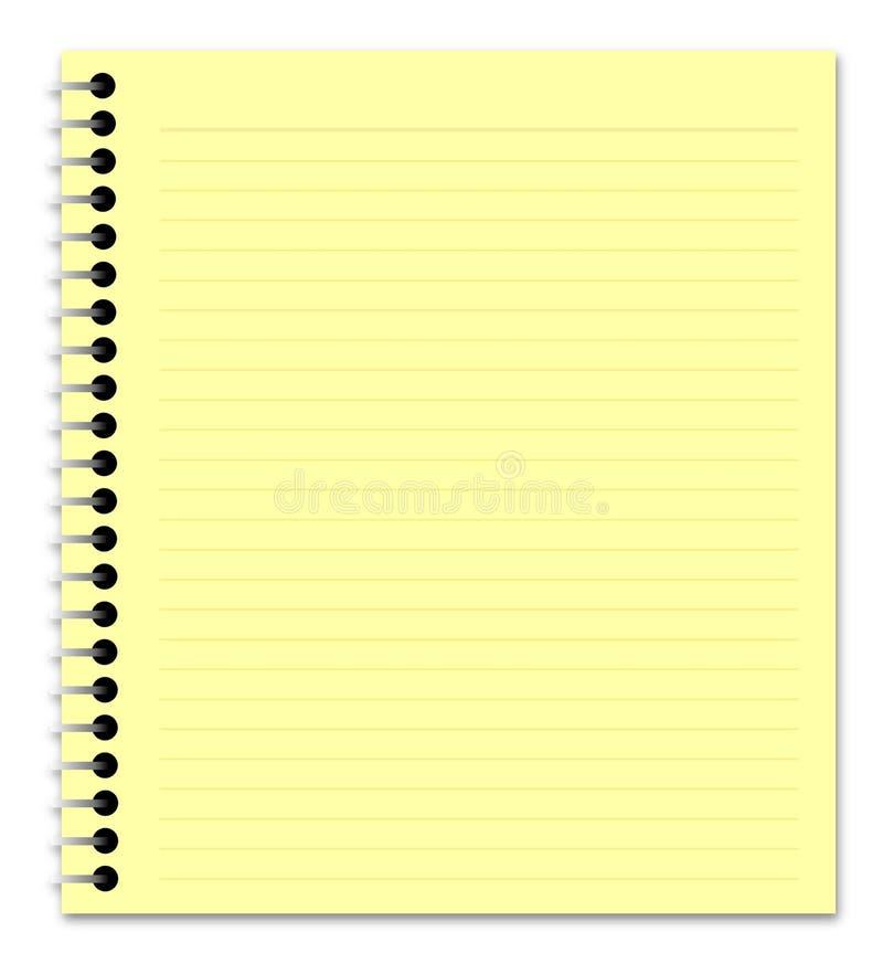 记事本黄色 库存例证