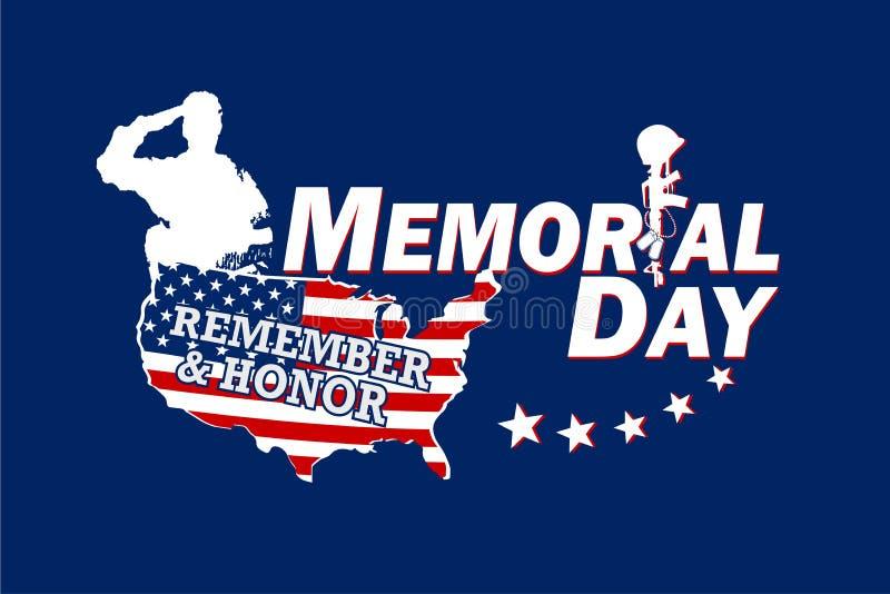 记住并且尊敬阵亡将士纪念日 库存例证