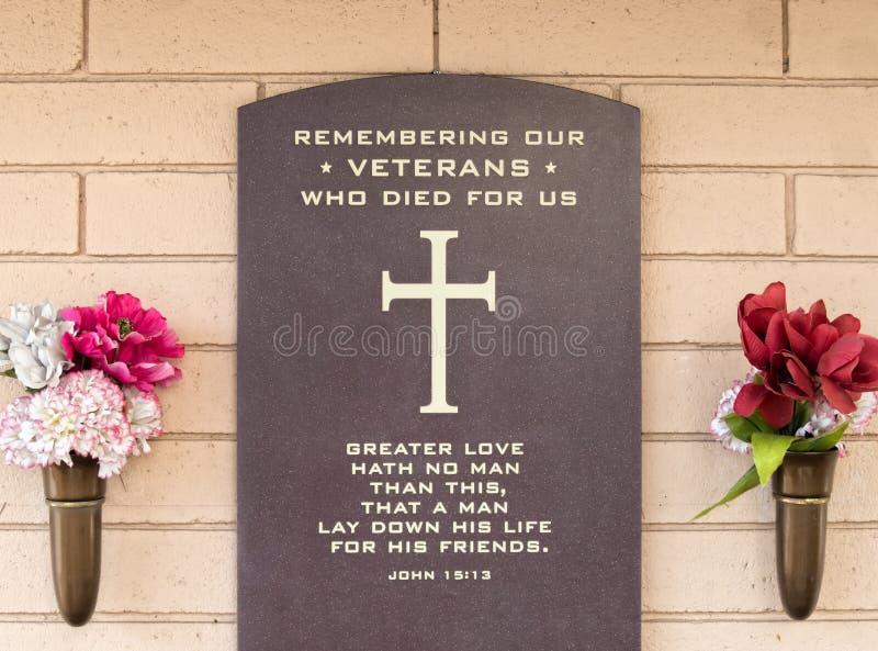 记住牺牲的我们的退伍军人 库存图片