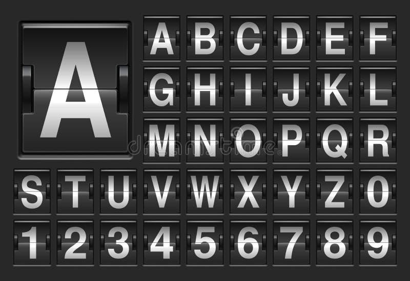 记分牌字母表 库存例证