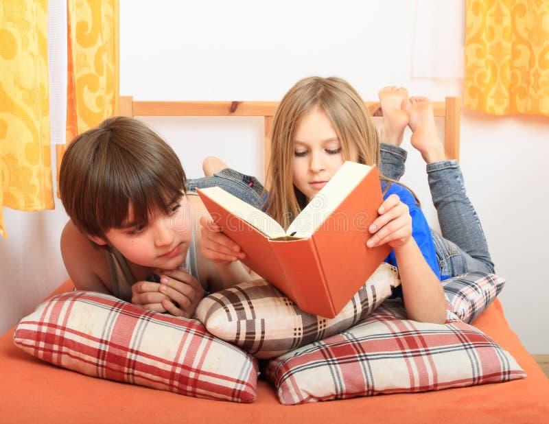 登记孩子读 库存照片