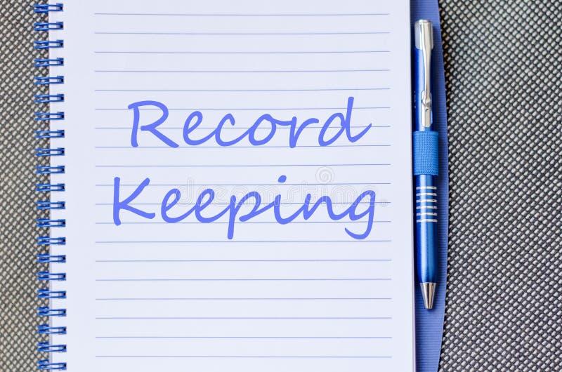 记录保持在笔记本写 库存图片