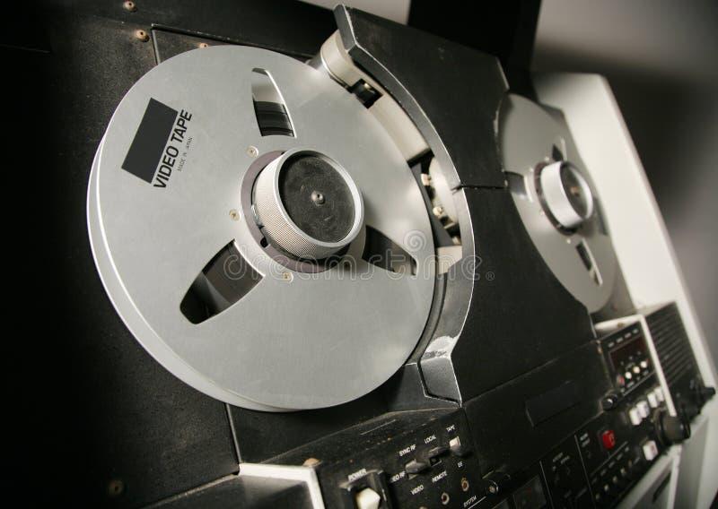 记录员卷轴磁带录影 库存照片