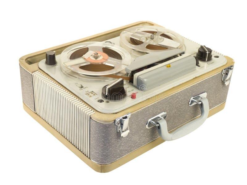记录员磁带掀动视图 库存图片