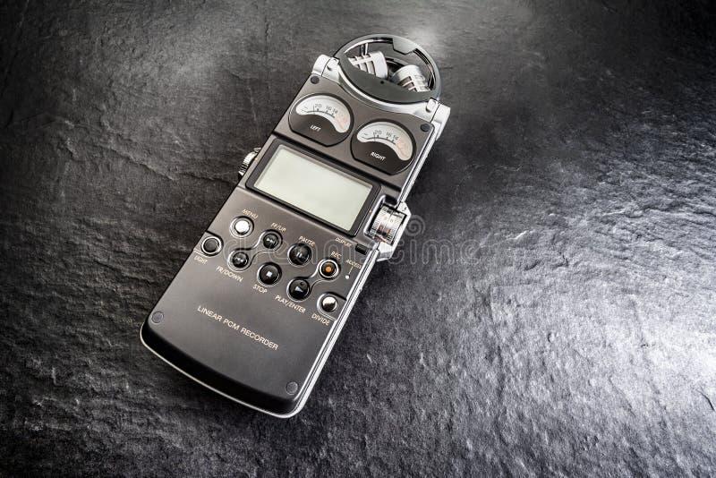记录器数字式音频喂fi 库存照片