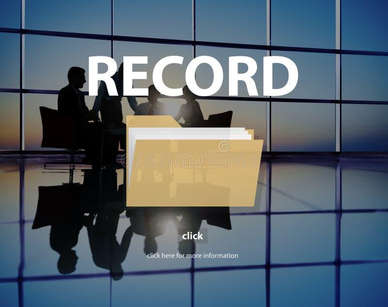 记录机要保密性信息数据概念 免版税库存照片