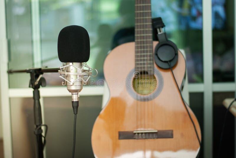 记录的室唱歌概念 免版税库存照片