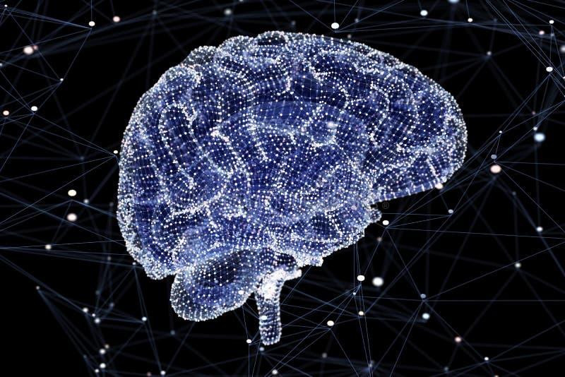 记录脑部活动 向量例证