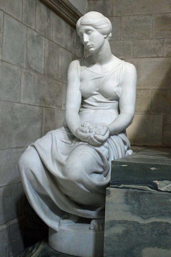 记忆雕象在罗斯基勒大教堂的 免版税库存图片