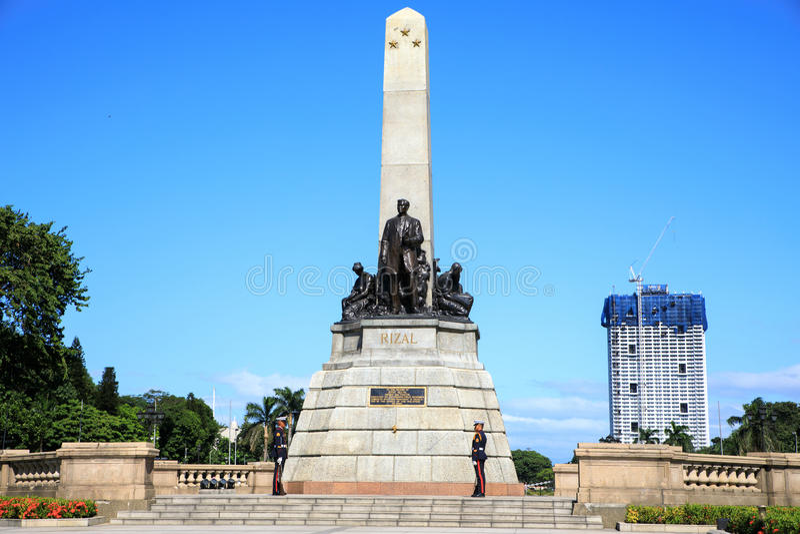 以记念何塞里扎尔的纪念碑里扎尔公园的 免版税库存图片