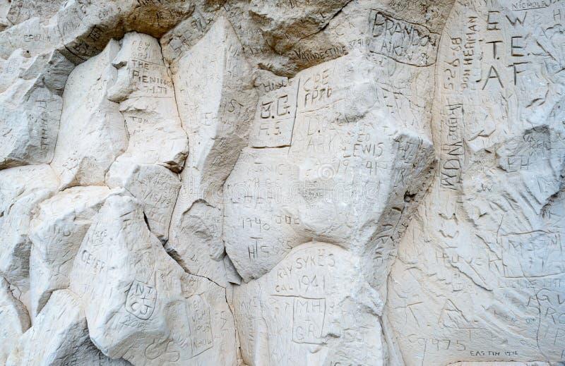 记数器峭壁状态古迹 库存图片