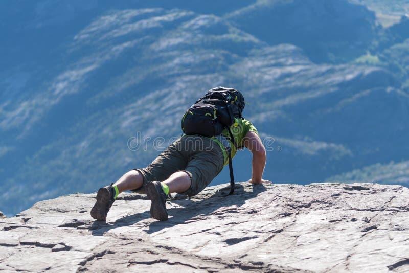 讲坛岩石在挪威 库存照片