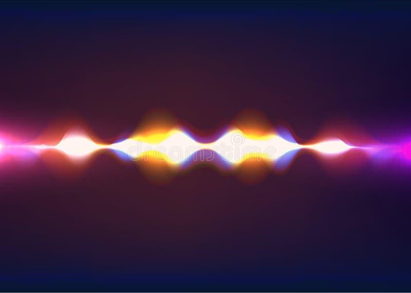 讲的声波 抽象脉冲 也corel凹道例证向量 向量例证