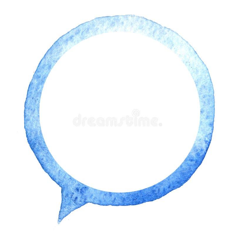 讲蓝色泡影水彩 设计要素例证图象向量 手拉的讲话 皇族释放例证