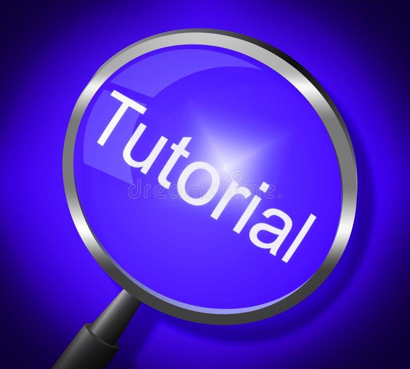 讲解放大器表明训练学会和学校 库存例证
