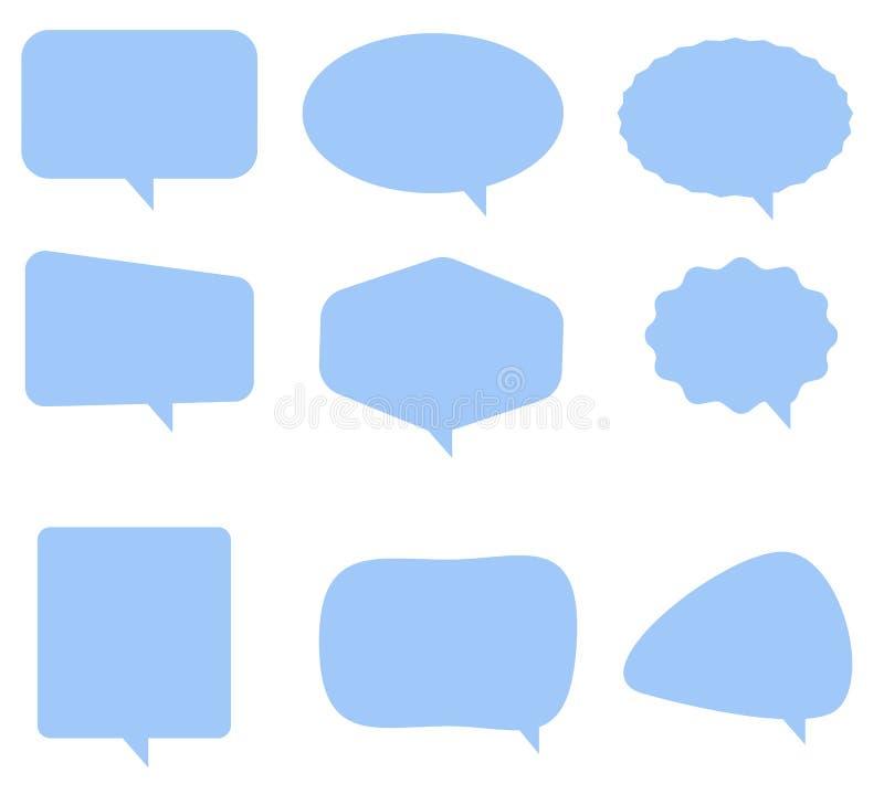 讲话在白色背景的泡影象 平的样式 空白倒空 皇族释放例证