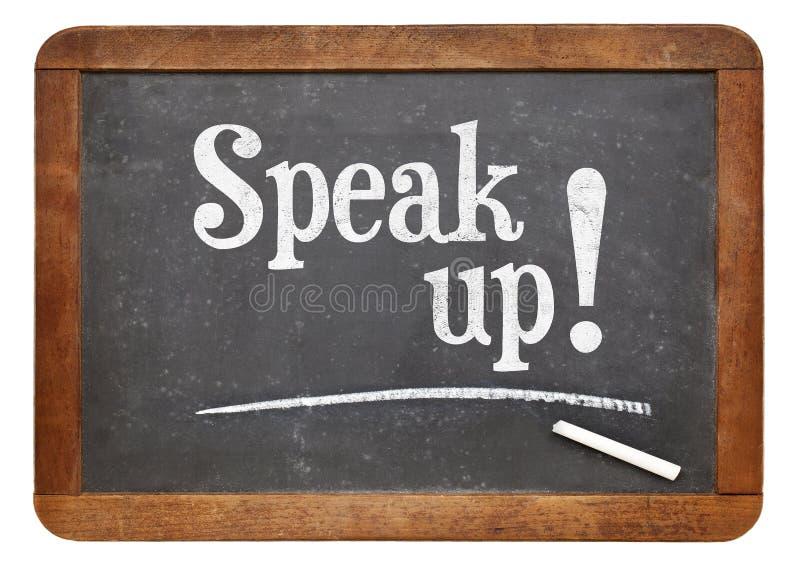 讲话在黑板的诱导词组 免版税库存图片