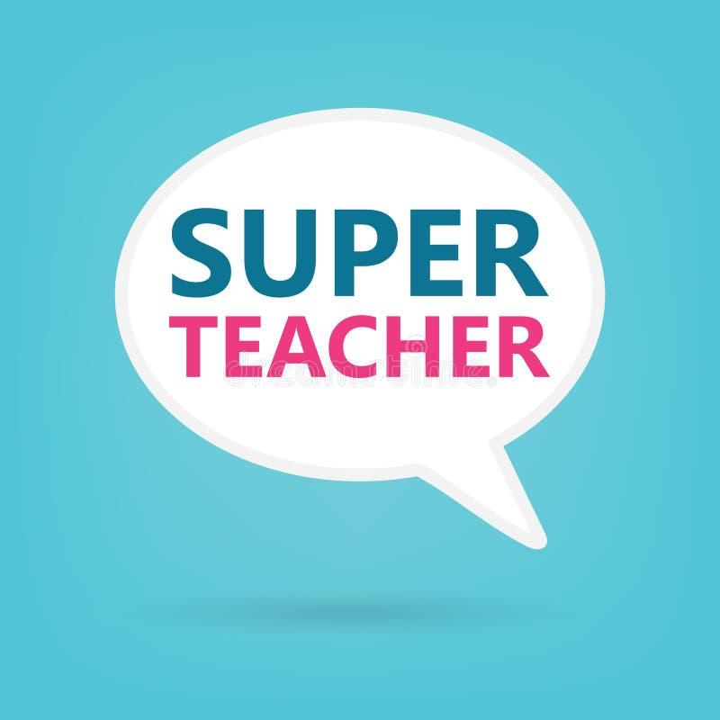 讲话泡影的超级老师 库存例证