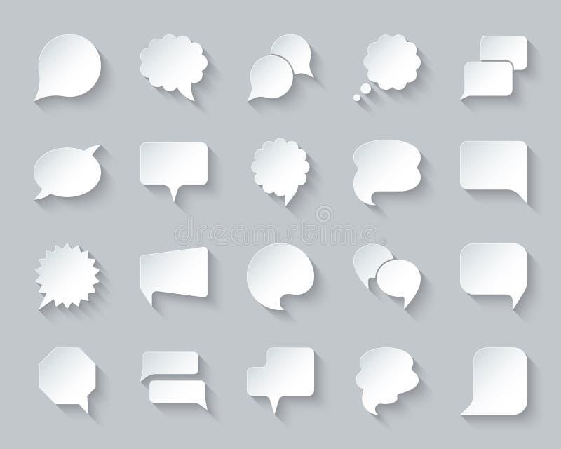 讲话泡影简单的纸削减了象传染媒介集合 皇族释放例证