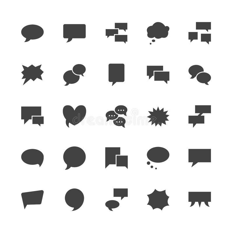 讲话泡影讲话平的纵的沟纹象 闲谈,评论,想法例证 通信概念的标志 固定 向量例证