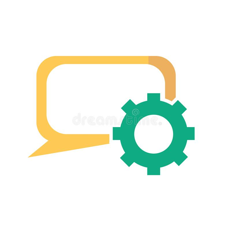 讲话泡影象在白色背景和标志隔绝的传染媒介标志,讲话泡影商标概念 向量例证