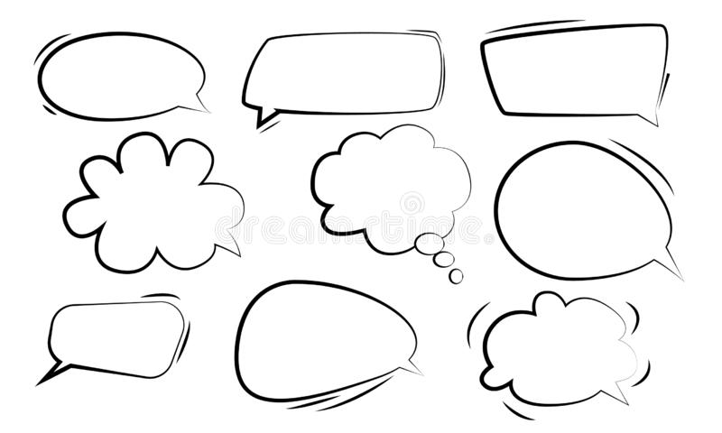 讲话泡影 讲话泡影传染媒介集合贴纸  向量例证
