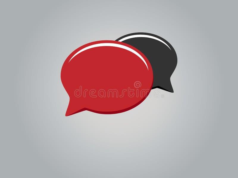 讲话buble被隔绝的象传染媒介例证设计 向量例证