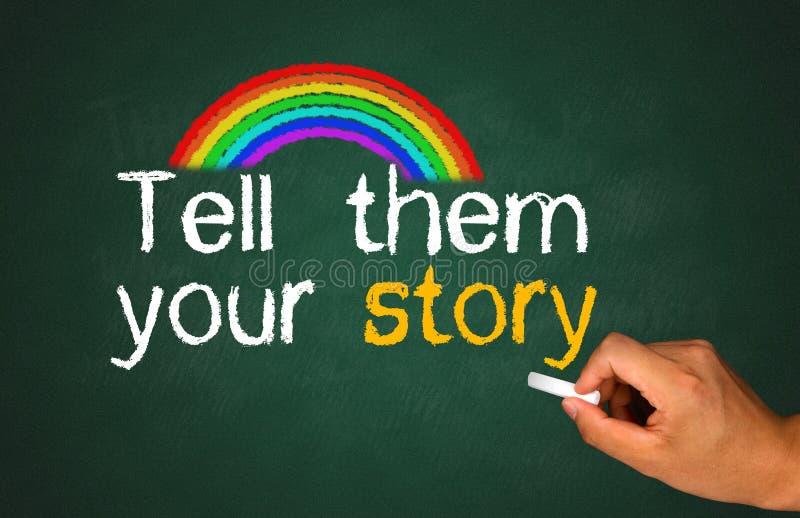 讲他们您的故事 免版税库存照片