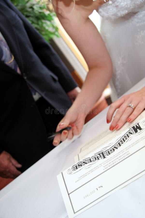 许可证婚姻 免版税库存图片