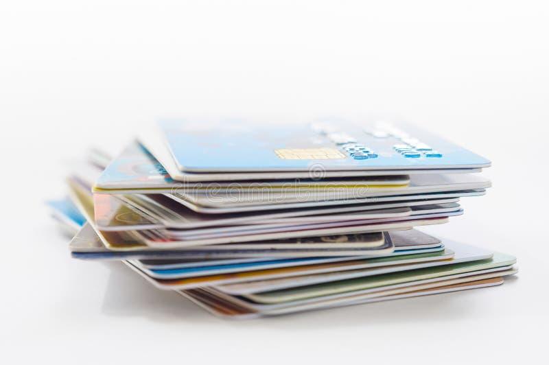 许多信用卡 免版税图库摄影