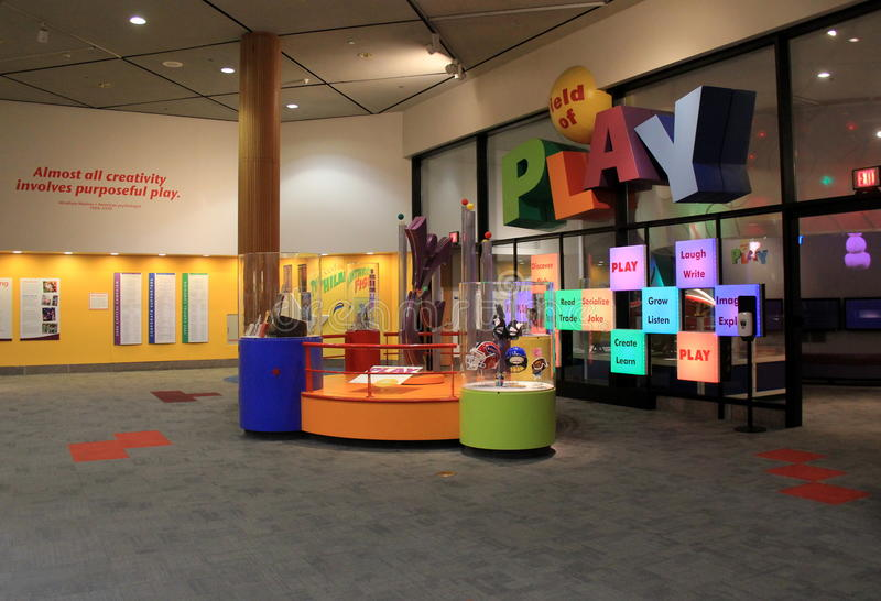 许多区域之一致力在博物馆使用致力科学,强的博物馆,罗切斯特, NY, 2017年 免版税库存照片