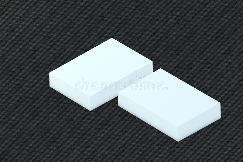 许多卡片堆对介绍的纸模板 皇族释放例证