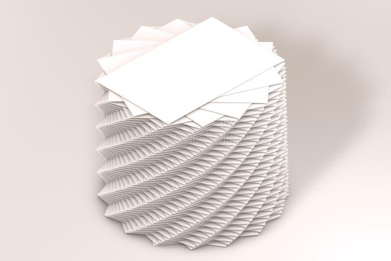许多卡片堆对介绍的纸模板 向量例证