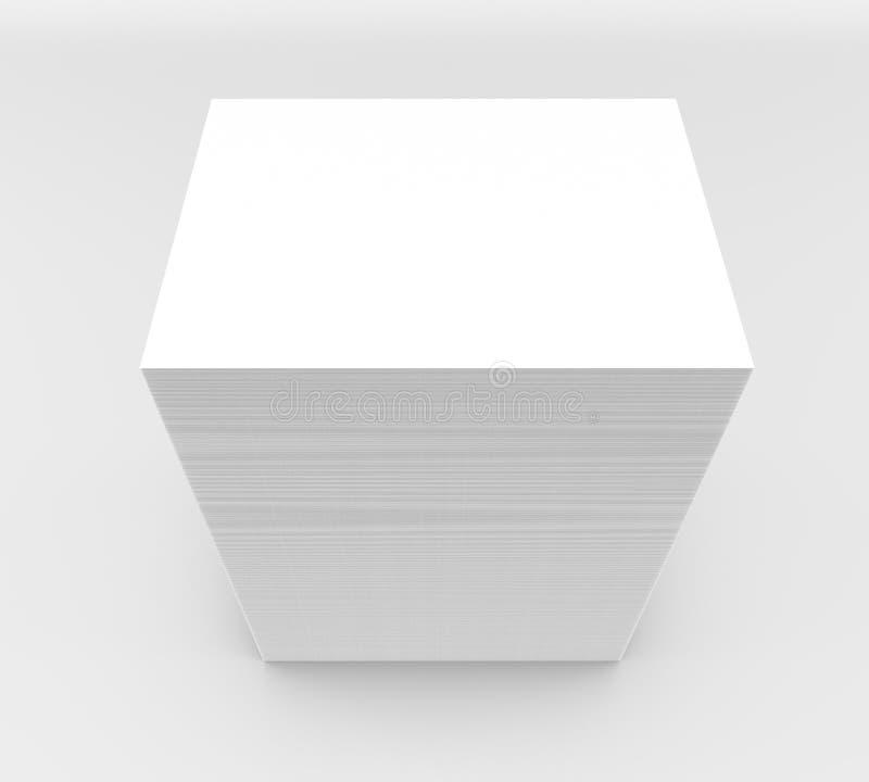 许多卡片 对介绍的模板 库存例证