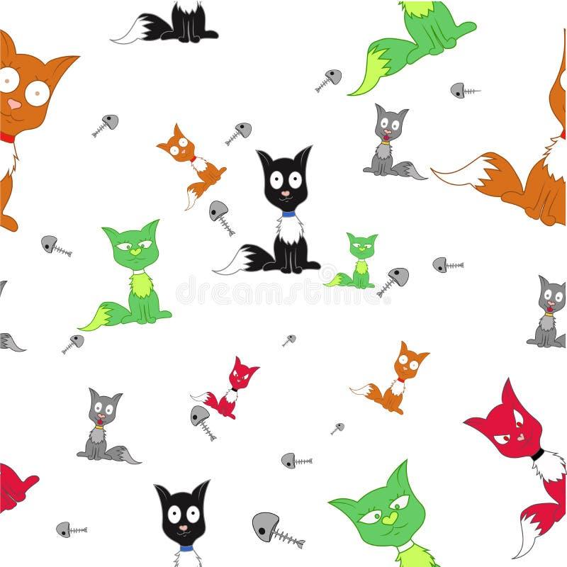 许多猫 向量例证