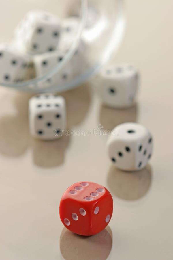 许多白色切成小方块和一红色一个 免费库存图片